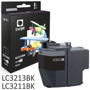 Compatible Brother LC3213BK Negro LC3211 alta capacidad