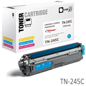 Compatible Brother TN245C, TN241C color, alta capacidad