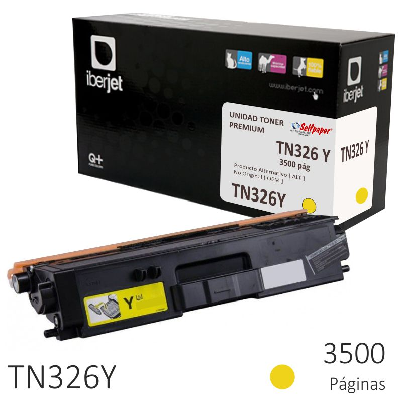Compatible Brother TN326Y Amarillo, Toner 3500 páginas