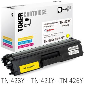Toner Compatible Brother TN423Y TN421Y TN426Y amarillo
