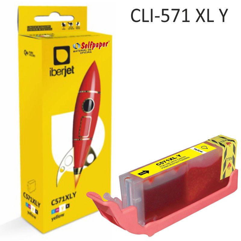 Compatible Canon CLI571XLY color Amarillo, cartucho de tinta