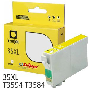 Compatible Epson T3594 35XL T3584XL Amarillo 1900 páginas