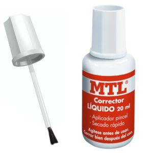 Corrector liquido, pincel 20ml