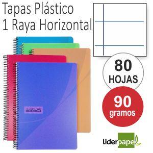 Cuadernos, Libretas tapas plástico