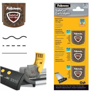 Set 3 Cuchillas Fellowes ondulado plegado hendido microcorte