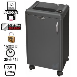 Comprar Destructora Fellowes 1250M, Microcorte, Seguridad Din P-5