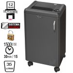 Destructora Fellowes 1250M, Microcorte, Seguridad Din P-5