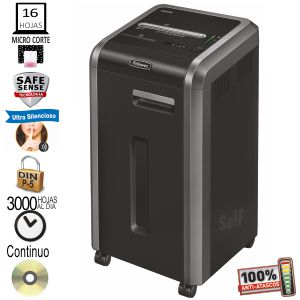 Destructora Fellowes 225Mi, Microcorte, microparticulas P-5