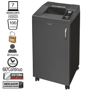 Destructora Fellowes 3250HS Nivel P-7 microcorte
