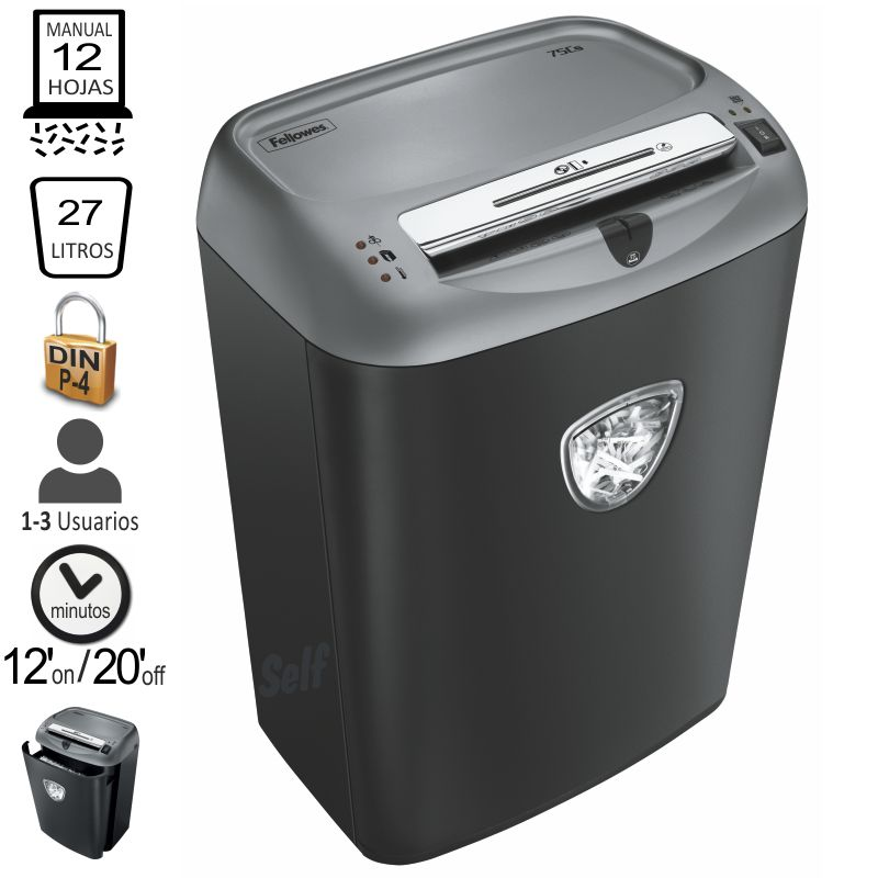 destructora fellowes 75cs particulas p 4 4675001
