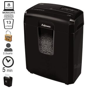 Destructora Fellowes 8MC Microcorte micropartículas P-4