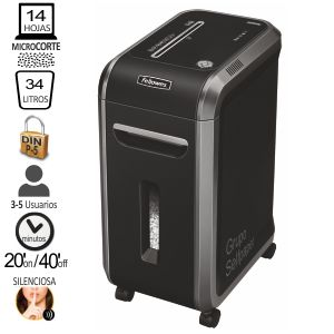 Destructora Fellowes 99MS Microcorte Nivel P-5