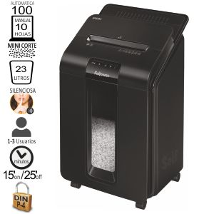 Destructora Fellowes Automax 100M Minicorte, automática
