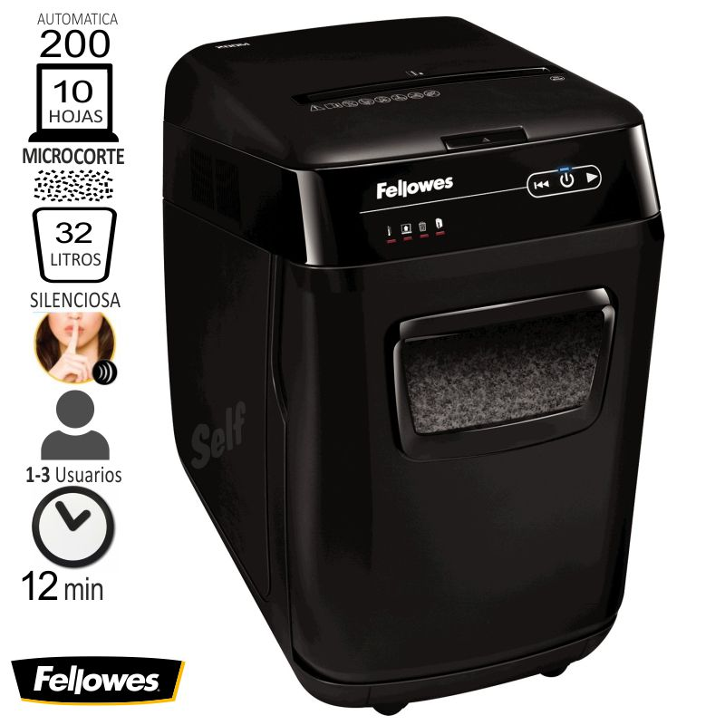 destructora fellowes automax 200m microcorte