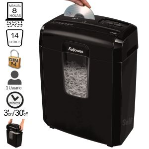 Destructora Fellowes 8CD, 8 hojas, destruye CDS
