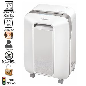 Destructora Fellowes LX201 Microcorte P-5, color Blanco