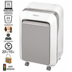 Destructora Fellowes LX211 Nivel P-5 microcorte 15 h. blanco