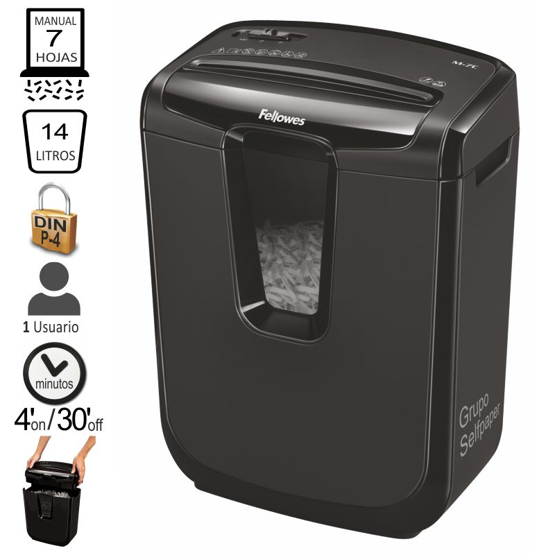 Destructora Fellowes M-7C, Particulas,