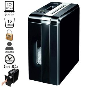 Destructora Fellowes DS-1200Cs, Hasta 12 Hojas en Partículas