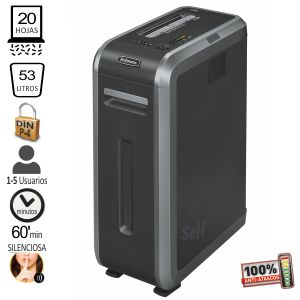 Destructora Fellowes 125Ci, uso