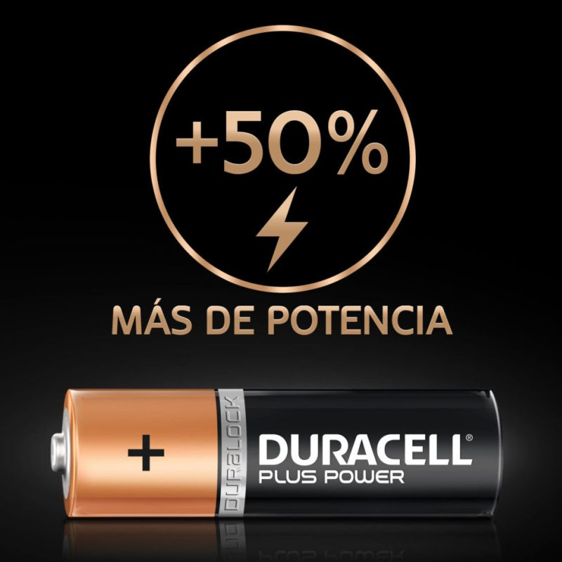 detalle pilas duracell plus power mn1500 lr6 aa