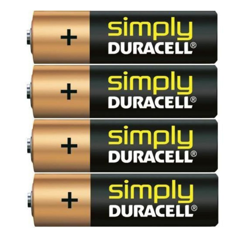 duracell pack 4 pilas alcalinas mn1500 aa lr6