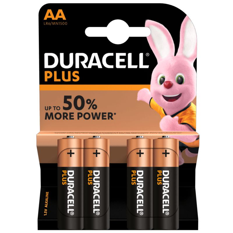 Comprar Duracell Plus Power 50%+ AA LR6 Pack 4 pilas alcalinas