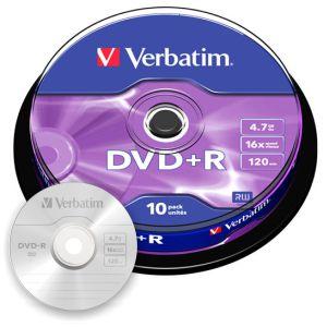 DVD+R Verbatim Bobina spindle