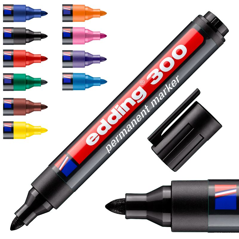 edding 300 rotulador permanente tinta indeleble