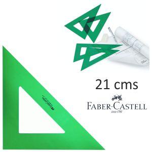 Escuadra Faber Castell verde