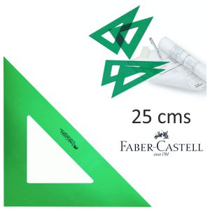 Escuadra Faber-Castell verde sin