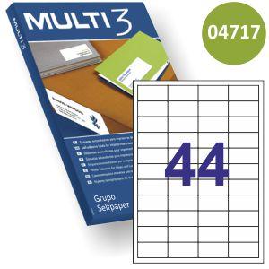 Etiquetas adhesivas impresora 48.5x254