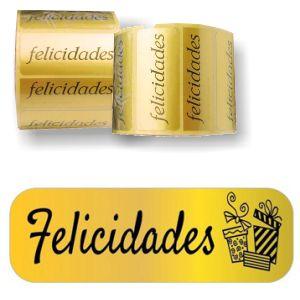 Etiquetas Felicidades - metalizadas
