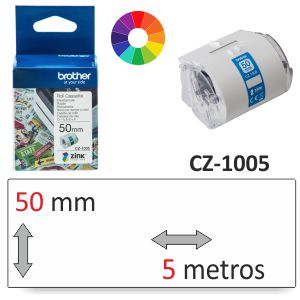 Etiquetas impresora Brother CZ-1005 color, para VC-500W