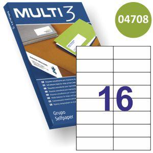 Etiquetas impresora Multi3 105x37mm