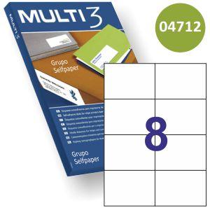 Etiquetas impresora Multi3 04712