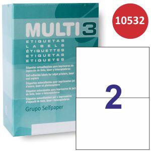 Etiquetas impresora Multi3 10532,