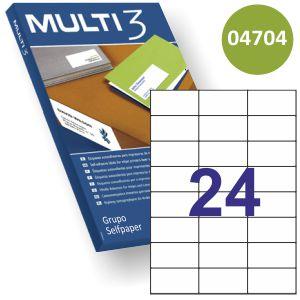 Etiquetas Multi3 04704 70x37mm