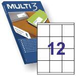 Etiquetas Multi3 04718, 12x