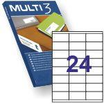 Etiquetas Multi3 10495, 70x33,8