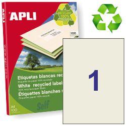 Etiquetas de papel reciclado