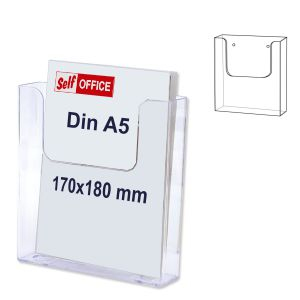 Expositor pared Transparente Din A-5. 170x41x17 mm