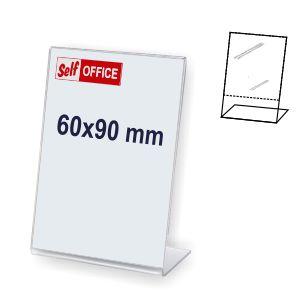 Expositor portaprecios transparente L