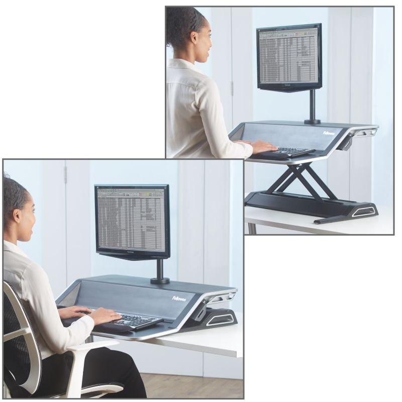 fellowes 0007901 sit stand negro