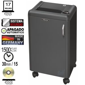 Comprar Fellowes 1250C Destructora Departamental 17 hojas Partículas