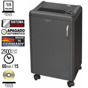 Fellowes 2250C, Destructora, 18