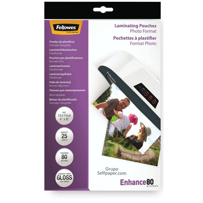 fellowes 5440602 plastico plastificar fotos 10x15