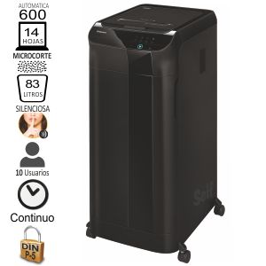 Fellowes 600M, Destructora microcorte P-5 automática