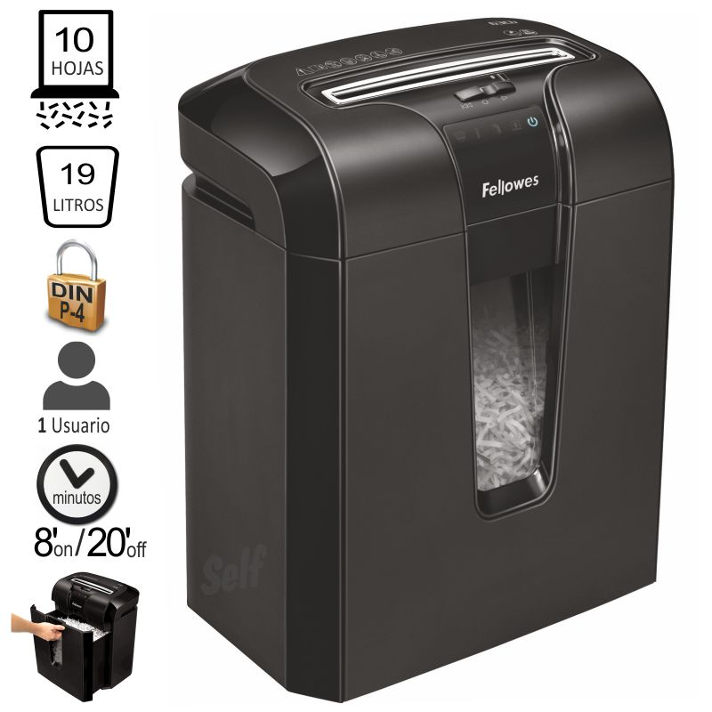 fellowes 63cb destructora papel corte particulas