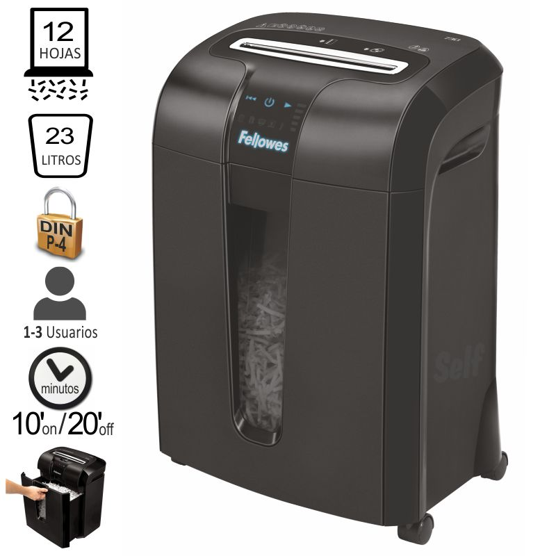 Destructora Fellowes 73Ci, Uso